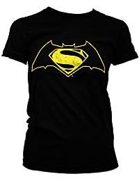 Officiellement Marchandises Sous Licence Batman Vs Superman Logo Femme Tee