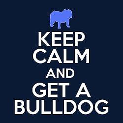 Coto7 Keep Calm and Get A Bulldog Men's Hooded Sweatshirt