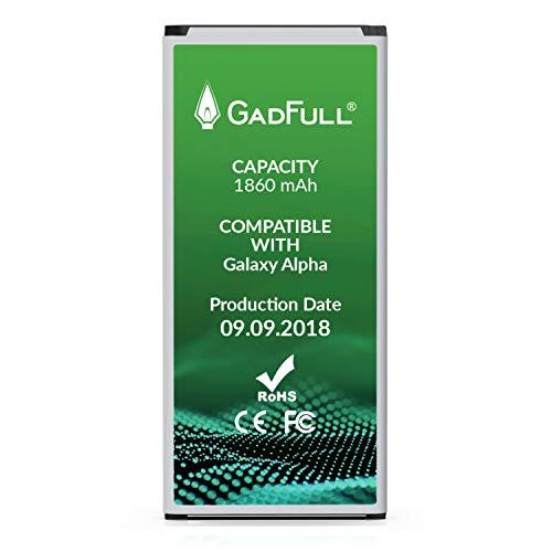 GadFull Batteria compatibile con Samsung Galaxy Alpha | 2018 Data di produzione | Corrisponde al EB-BG850BBE originale | Compatibile con Alpha G850F | batteria per il tuo smartphone