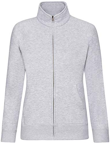 Fruit of the Loom - Lady-Fit Sweat Jacket - Modell 2013 / Heather Grey, M M,Heather Grey