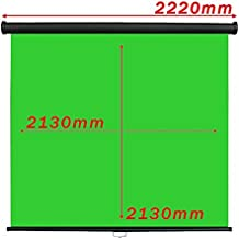 Cablematic Chromakey Green Screen 1: 1 schwarze Wand 2130x2130mm