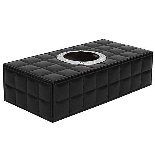 Contever® Car Scatola Rettangolare per Fazzolett Tissue Box - pelle Sintetica in Poliuretano - (Fucsia Bambù)
