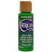 Americana Acrylic Paint 2oz-Festive Green - Semi-Opaque