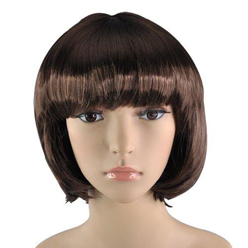 TOOGOO(R) Erwachsenen kurze Bob Kostuem falschen Haare babe Peruecke Mode Damen Frauen Cosplay Abend - (Kostüme Flapper Erwachsene Mode)