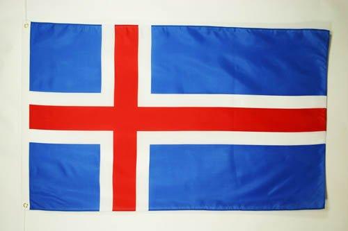 DRAPEAU ISLANDE 150x90cm - DRAPEAU ISLANDAIS 90 x 150 cm - DRAPEAUX - AZ FLAG