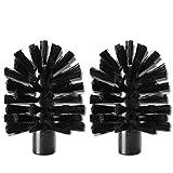Brush Hero 'BH107' - Ersatzbürsten schwarz/schwarz, weich, 2 Stück