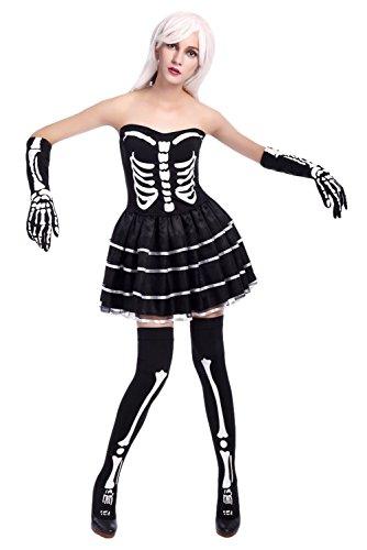 Smileshop Geister Braut Kostüm Zombie Braut Halloween Damen Vampire Kostüm Chucky Halloweenkostüm Damenkostüm XL