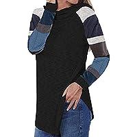 Hanomes Damen pullover, Damen Kapuzenoberteile Streifen Shirts Tunika Langarm Pullover preisvergleich bei billige-tabletten.eu