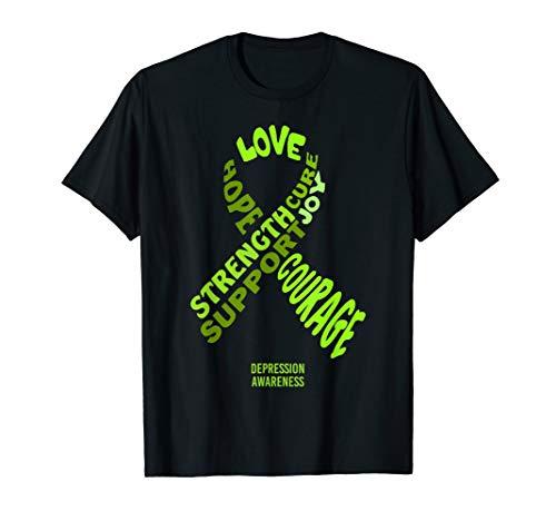 Band zur Sensibilisierung für Depressionen mit Worten T-Shirt