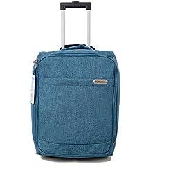 EasyJet cabina bolsa de equipaje de mano Suitecase ligero estupendo con el mango extensible y ruedas Perfecto para todas las aerolíneas como Ryanair, KLM, Virgin, British Airways (azul de la pizarra)
