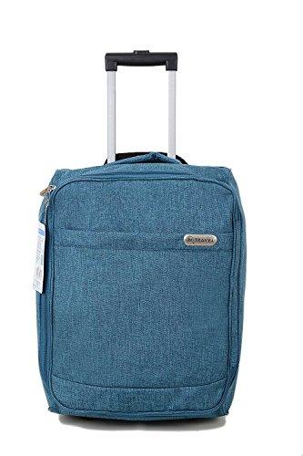 Kabine Tasche Trolly mit Rollen Handgepäck Flight Suit Case für Easyjet, Ryanair, British Airways, Virgin, Flybe, Jet 2 und viele andere Airlines oder Reise (Blau) (Kabine Koffer)