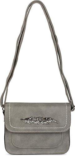 styleBREAKER, Borsa a tracolla donna grigio grigio chiaro taglia unica grigio chiaro