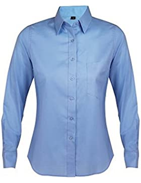 SOLS - Camisa de negocios de manga larga para mujer