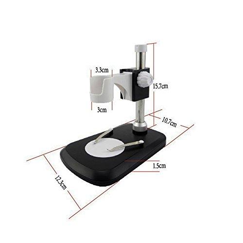 jiusion Tragbare USB-1–600x kontinuierliche Zoom 10,9cm LCD Bildschirm Digital Mikroskop Vergrößerung wiederaufladbarer Lithium-Ionen-Akku Unterstützung 6HS Arbeit Zeit Vergrößerung Verstärker