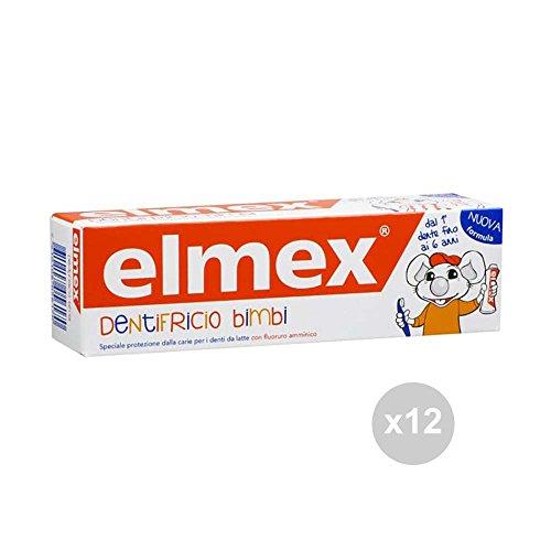 Elmex Zahnpasta für Kinder, 0-6 50 ml, Zahnpflege, Mehrfarbig, 12 Stück
