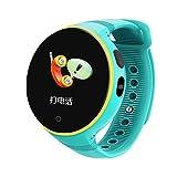 WATCH GYQ@ Telefonuhr SOS Fernüberwachung langes Standby-Kind intelligente Positionieruhr,Blue