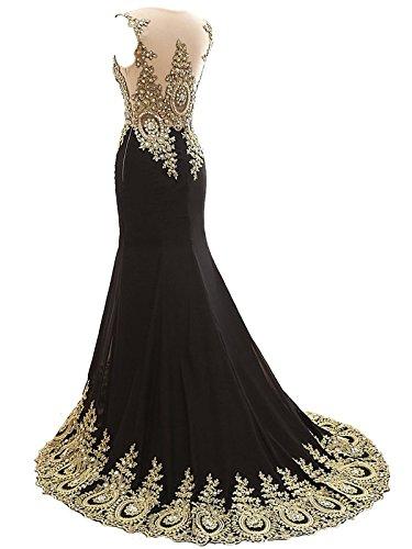 MicBridal®Big sale Robe de soirée longue, robe de cocktail, robe traine robe sirene femme avec imitation strass,paillettes perlée Jaune