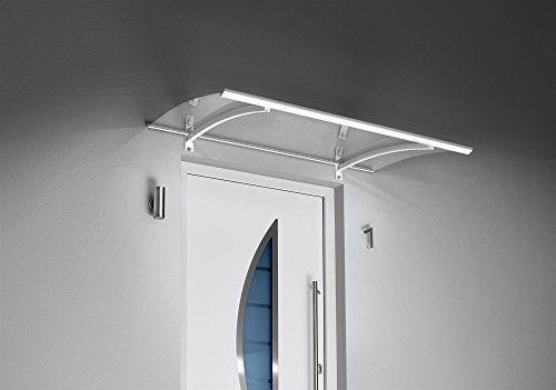 GUTTA Pultvordach LED-Technik, 150x90x22 cm, weiß-transparent