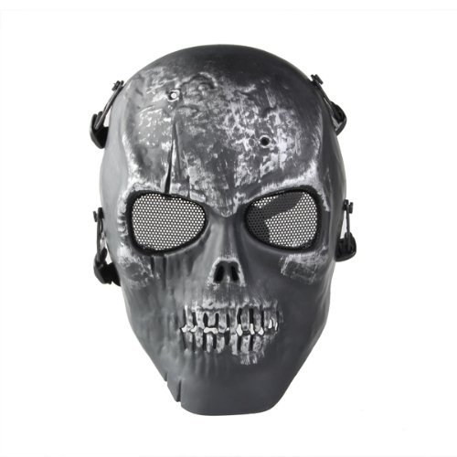 Igking Supply Skull Skeleton Airsoft Paintball-Maske, Schutzmaske, Vollmaske
