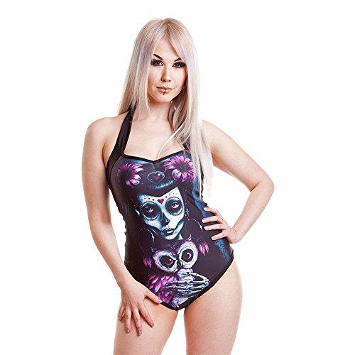 Costume Da Bagno Muerte Owl Heartless (Nero) - X-Large