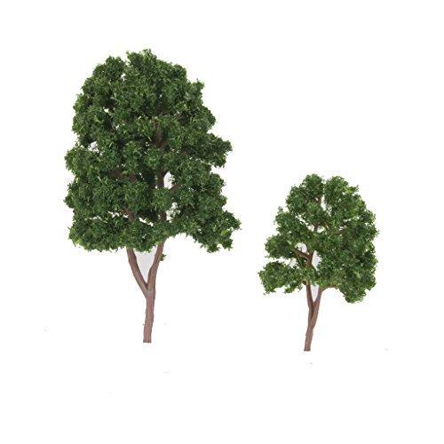 Lanlan Miniatur Baum Modelle Zug Scenery Railroad grün künstliche Baum 7,5cm 20Stück