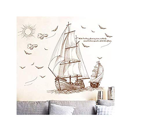Wall Stickers Quotes Retro Beautiful Candle Style Travel Wall Sticker PVC Backdrop Home Decor Kids Room Tattoos Wall Art Wallpaper Adhesives Poster