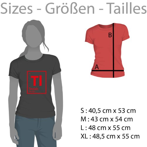 TEXLAB - The Master - Damen T-Shirt Grau Meliert
