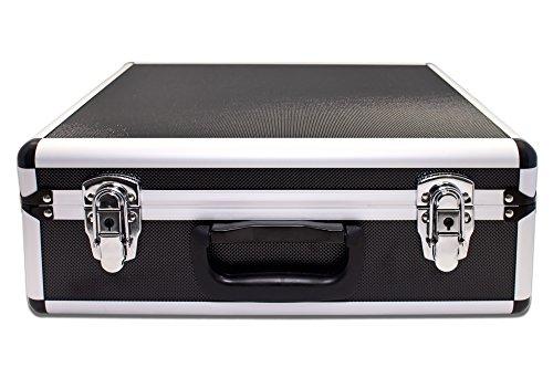 PeakTech 7305 - Universal Koffer für Messgeräte, Robuster Tragekoffer, Werkzeug Aufbewahrung, Würfelschaum Platten, Schaumstoff Polsterung, abschließbar, Staubschutz, L - 405 x 330 x 150 mm