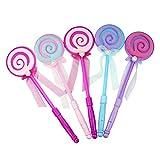 STOBOK 5 unids Varita mágica con luz Lollipop Juguetes Princesa Vestir Accesorios para Fiesta Concierto