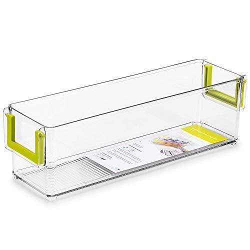 Aufbewahrungsbox für die Sortierung von Getränken Mehrzweckschublade Kühlschrank Aufbewahrungsbox Aufbewahrungsschublade Mit Griff ohne Deckel Schrankbox Haushalts-Aufbewahrungsbox-transparent