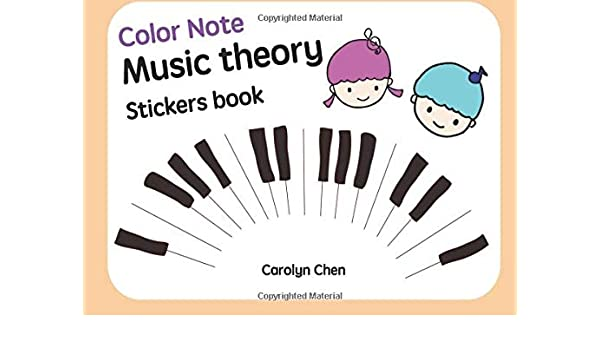 Buy Color Note-music Theory Stickers Book: Volume 1 (Color
