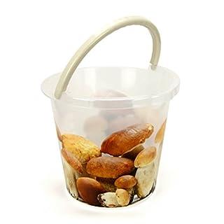10 Liter Eimer transparent/Pilze mit Skala und Auslauf