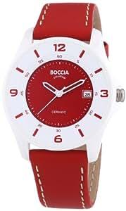 Boccia Damen-Armbanduhr Ceramic Analog Quarz Leder 3226-07