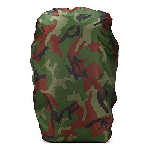 Ruifu Camouflage Sac à dos Housse de pluie 60–80L pliable étanche à la poussière protection Sac à dos pour le camping de voyage