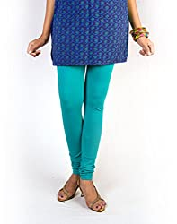 27 Ashwood Womens Cotton Lycra Leggings (27WSL1008_Sea Green_X-Large)