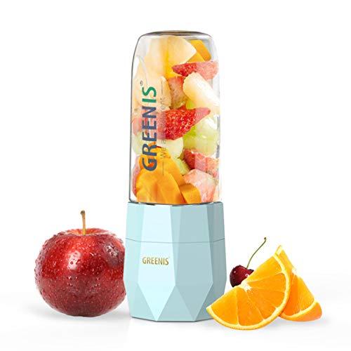 Tragbar Smoothie Maker BPA Frei Tritan Mini Standmixer USB Wiederaufladbar für Shakes und Smoothies