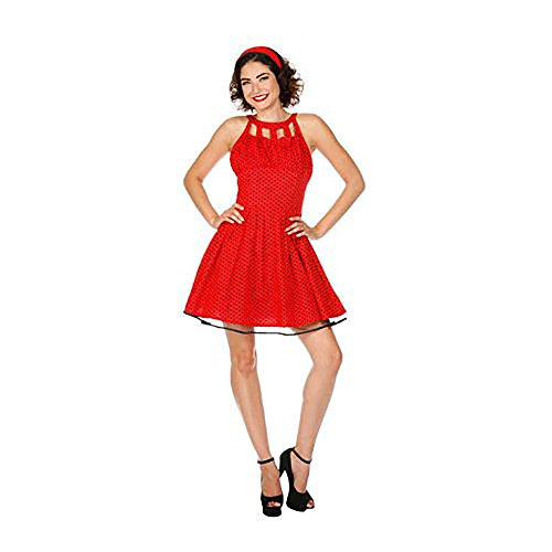 Voodoo Vixen Kleid DRA2073 dotted red XL