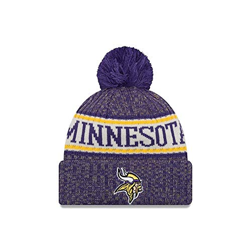 New Era NFL Sideline Bobble Knit 2018 2019 Season Beanie (Minnesota Vikings) 6e5a12ede