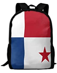 haiyingzhiyi Flag of Panama OW Motion Waving Adult Travel Backpack School Casual ypack Oxford Outdoor Laptop