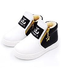 Botas Unisex de Nieve de Niñas Niños Zapatos de Bebé Color Sólido Botines Calentar Acogedor Niñas