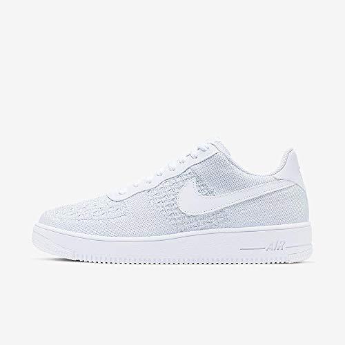 Nike Herren Air Force 1 Flyknit 2.0 Basketballschuhe, Mehrfarbig Pure Platinum/White 100, 42 EU (Nike Männer Force Air Schuhe)