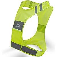 Nueva mejor chaleco reflectante para carrera w/bolsillo–# 1recomendado seguridad Gear–Ideal para Ciclismo, Ciclismo, Caminar para Hombres y Mujeres (SMALL-LARGE), Amarillo