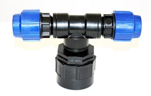 Heavy Duty IBC Adaptateur à double Compression Raccords de tuyau 25mm x 25mm