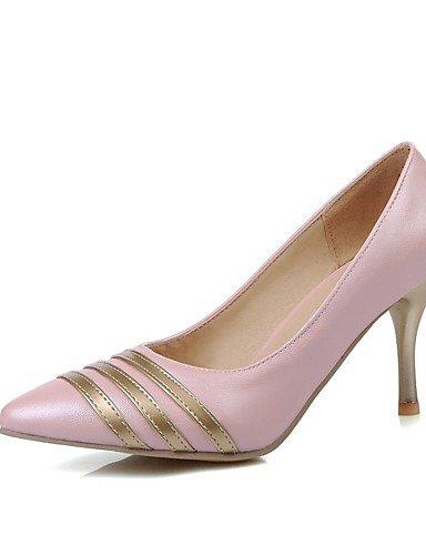 WSS 2016 Chaussures Femme-Bureau & Travail / Décontracté-Bleu / Rose / Violet / Blanc-Talon Aiguille-Talons / Bout Pointu-Talons-Polyuréthane white-us9.5-10 / eu41 / uk7.5-8 / cn42
