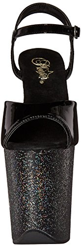 Pleaser FLAMINGO-809MG (Blk/Blk Glitter)