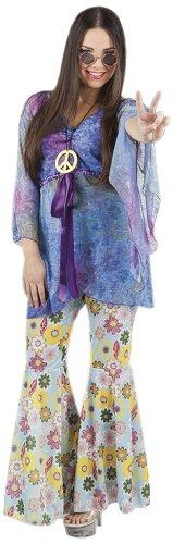 Boland 83523 - Erwachsenenkostüm Flower Woman mit Hose, Shirt und Halskette, Gröߟe 40 / 42