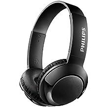Philips SHB3075BK - Auriculares Inalambricos (Bluetooth, con micrófono, aislantes de ruido, plegables, 12 h dereproducción) negro