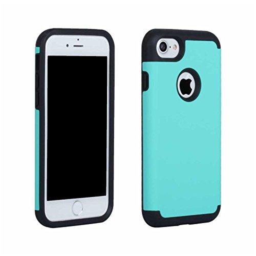 BoxTii®, custodia iPhone 7 [con protezione schermo in vetro temprato inclusa], in morbido TPU + cover rigida in policarbonato, anti-graffio e assorbimento degli urti 2in 1, custodia protettiva poster #5 Blue