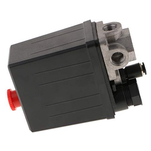 G1 / 4 G3 / 8 3 Phasen Luftkompressor Druckschalter Steuerventile 0,85 MPa - Schwarz 1