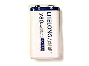 Pile 9V Rechargeable Li-ion 780mAh Litelong